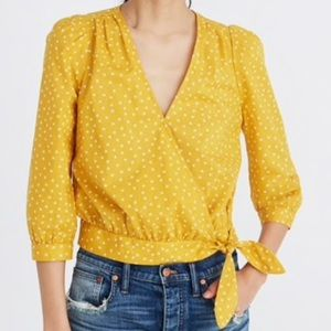 Madewell Wrap Top in Star Scatter Top